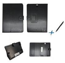 Capa Case Galaxy Tab S3 - T820/T825 Pasta / Carteira + Caneta Touch (Preto) - Skin t18