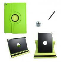 Capa Case Para iPad Air 2 Giratória 360º / Caneta Touch (Verde) - BD Net Imports