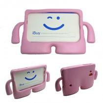 "Capa Case Protetor Infantil Anti-Choque/Impacto Galaxy Tab 4 T230 7"" (Rosa) - BD Net Imports"
