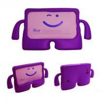 "Capa Case Protetor Infantil Anti-Choque/Impacto Galaxy Tab 4 T230 7"" (Roxo) - BD Net Imports"