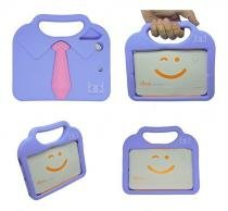 "Capa Case Protetor Infantil Anti-Choque/Impacto ""gravatinha"" iPad Mini 2/3/4 (Lilás) - BD Net Imports"
