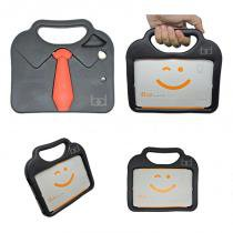 "Capa Case Protetor Infantil Anti-Choque/Impacto ""gravatinha"" iPad Mini 2/3/4 (Preto) - BD Net Imports"