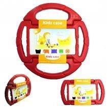 "Capa Case Protetor Infantil Anti-Choque ""Volante"" Galaxy Tab 4 T230 7"" BD NET (Vermelho) - BD Net Imports"