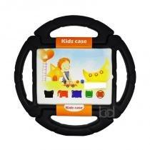 "Capa Case Protetor Infantil Anti-Choque ""Volante"" para iPad 2/3/4 - BD NET (Preto) - BD Net Imports"