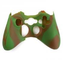 8e9b3b3104095 Capa Case Protetora de Silicone Gel Para Controle Xbox 360 Camuflada Marrom  e Verde FEIR FR