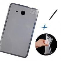 "Capa Case TPU Galaxy Tab A 7.0"" SM - T280/T285 Transparente / Caneta Touch - Skin t18"