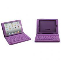 Capa com teclado bluetooth para tablet de 7 roxo - Importado