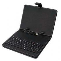Capa com teclado para tablet 7 com auto falantes preto - Importado