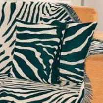 Capa de almofada zebra 45x45cm - Omartex
