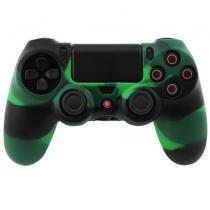 Capa de Silicone para Controle Joystick Playstation 4 Verde e Preto - Ukimix