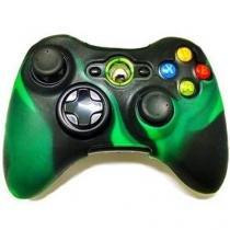 Capa de silicone para controle xbox 360 verde e preto - Importado