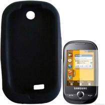 Capa De Silicone Samsung Corby Txt Preto Protetora - Samsung