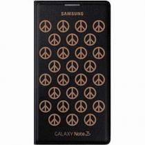 Capa Flip Wallet Preta Com Dourado Galaxy Note 3 - Samsung
