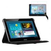 "Capa Giratória Inclinável Para Tablet Samsung Galaxy Note 10.1"" GT-N8000 / N8010 / N8020 + Película de Vidro - Lka"