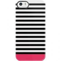 Capa iPhone 5/5S/SE Uncommon Listras Preta / Rosa -