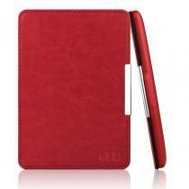 Capa Kindle 8a Geração WB Auto Liga/Desliga  Couro Vermelha -