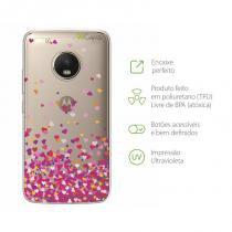 Capa Moto G5 Plus - Corações - 99capas