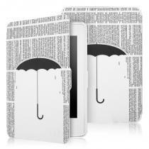 Capa Novo Kindle 8a Geração WB Auto Liga/Desliga - Ultra Leve Chuva de Letras -