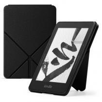 Capa Origami de Couro para Kindle Voyage Preta - Amazon