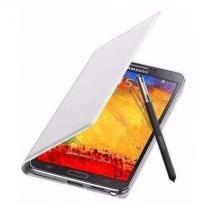 Capa Original Flip Wallet Branca c/ Det. Cinza Galaxy Note 3 - Samsung