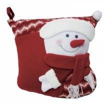 Capa para Almofada Boneco de Neve 38cmx33cm Paris Niazitex Vermelho -