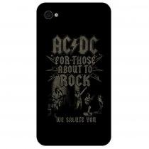 Capa Para Apple Iphone 4 e 4s Customic Ac/dc Those About To The Rock Ref Cpciph40004 - CUSTOMIC