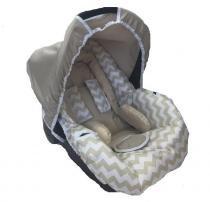 Capa para Bebê Conforto Chevron Bege - Alan pierre baby