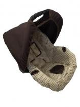 Capa para Bebê Conforto Estrela Bege com Marrom - Alan pierre baby