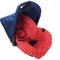 Capa para Bebê conforto Multimarcas de 0 a 13 KG Ancora Vermelha - Alan pierre baby