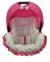 Capa Para Bebê Conforto Multimarcas De 0 A 13 Kg Floral Azul com Rosa - Alan pierre baby