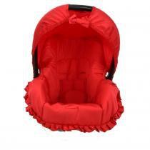 Capa para Bebê conforto Multimarcas de 0 a 13 KG Vermelho - Alan pierre baby