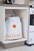 Capa Para Botijão De Gás Com Estampa Da Galinha 48,5cm X 23,5cm 100 Pvc - Tutti Casa
