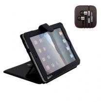 Capa para iPad 1/2/3 com Apoio Reclinavel Leadership + Fone de Ouvido Cabo Super Reforçado Compatível -