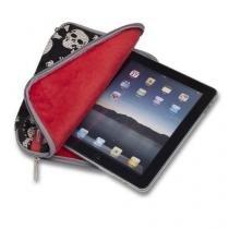 Capa para iPad Caveira com Paetes Leadership  + Suporte para Tablet para Banco de Carro Lelong -
