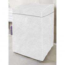 Capa para Máquina de Lavar Flanelada com Viés Vida Pratika Branca G -