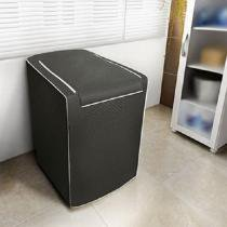Capa para máquina de lavar roupas adomes m3002 tampa com zíper 10 a 11,5 kg café - Adomes