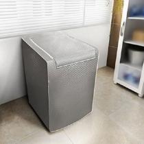 Capa para máquina de lavar roupas adomes m3002 tampa com zíper 10 a 11,5 kg cinza - Adomes
