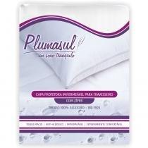 Capa para Travesseiro Impermeável 180 Fios 45x65 cm Branco - Branco - Plumasul
