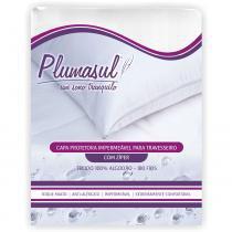 Capa para Travesseiro Impermeável 180 Fios 50x90 cm Branco - Branco - Plumasul