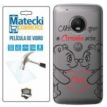 2971be5bd Capa Personalizada Frases + Película de Vidro para Motorola Moto G5 Plus  XT1683 - Matecki -