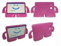 "Capa Protetor Infantil Anti-Choque ""Mãozinha"" Galaxy Tab E T560/T561 9,6"" (Rosa) - Skin t18"