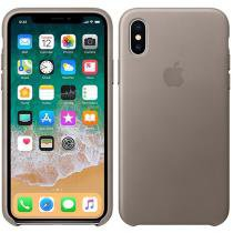 Capa Protetora Couro para iPhone X - Apple MQT92ZM/A