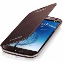 Capa Protetora Original Flip Cover - Galaxy S3 - Marrom - Samsung