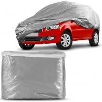 Capa Protetora para Cobrir Carro 100 Impermeável Fixação Firme Não Risca Pintura Tamanho P Cinza - Plasitap