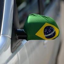 Capa retrovisor de carro bandeira do brasil olimpiada 2pc ydh-br0018 - Commerce brasil