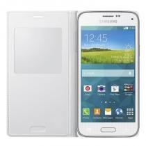 Capa S View Cover Original Samsung Galaxy S5 Mini Duos - Branco -
