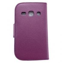 Capa Samsung Galaxy Fame Carteira De Couro Roxo - Idea -