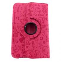 Capa Samsung Tab 3 8.0 Rotate Cartoon Rosa - Idea - Idea