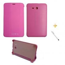 "Capa Smart Book Case Galaxy Tab E - 7"" T113/T115/T116 / Caneta Touch (Rosa) - BD Net Imports"