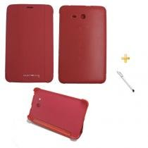 "Capa Smart Book Case Galaxy Tab E - 7"" T113/T115/T116 / Caneta Touch (Vermelho) - BD Net Imports"